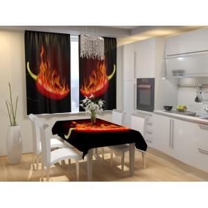 Фотошторы для кухни Жгучий перец