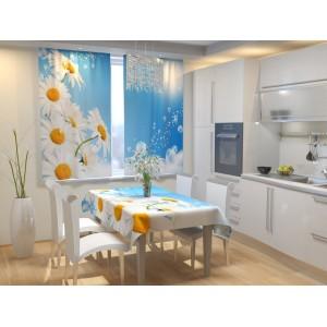 Фотошторы для кухни Ромашковая свежесть
