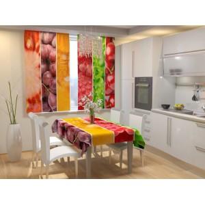 Фотошторы для кухни Сочный коллаж