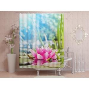 Фотоштора для ванной Солнечная лилия