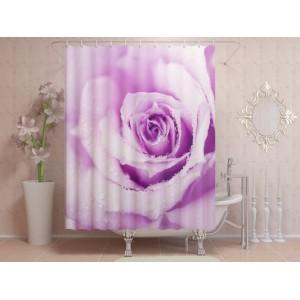 Фотоштора для ванной Стебель розы в росе