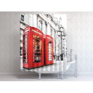 Фотоштора для ванной Телефон в Лондоне