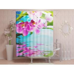 Фотоштора для ванной Свежайшая орхидея