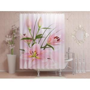 Фотоштора для ванной Чарующая лилия