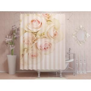 Фотоштора для ванной Чувственные розы